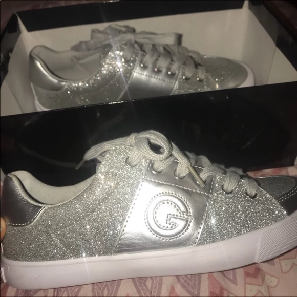 G By Guess Sparkly Glitter Tennis Shoes